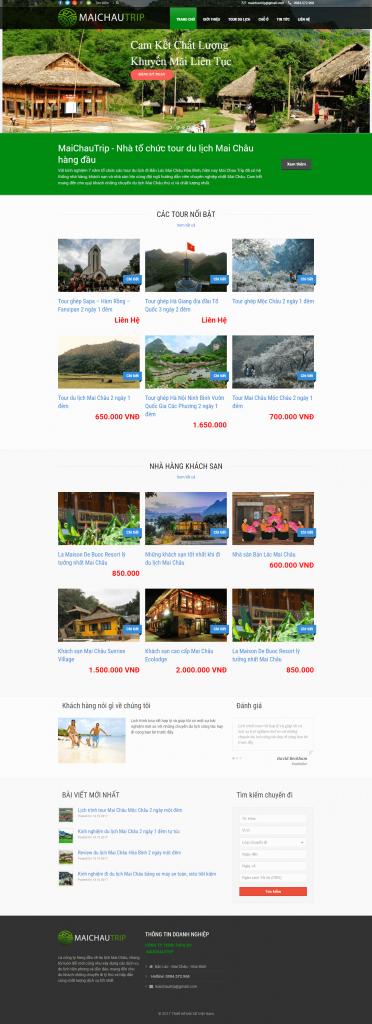 Website du lịch maichautrip