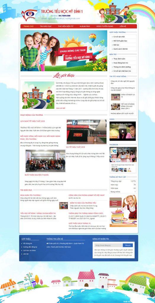 Web trường tiểu học